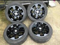 Vauxhall Corsa Alloy Wheels & Tyres Gloss Black Grey Griffins DELIVERY AVAILABLE