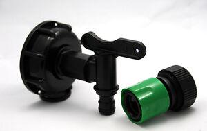 raccord robinet cuve 1000 litres avec raccord rapide arrosage jardin eau pluie ebay. Black Bedroom Furniture Sets. Home Design Ideas