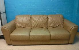 Light brown 3 seater sofa