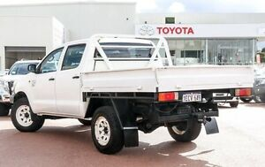 2013 Toyota Hilux KUN26R MY12 Workmate Double Cab White 5 Speed Manual Utility Westminster Stirling Area Preview