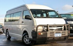 2011 Toyota Hiace KDH223R MY11 Commuter High Roof Super LWB French Vanilla 5 Speed Manual Bus Glendalough Stirling Area Preview