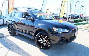 2010 Mitsubishi Outlander ZH MY11 LS 2WD Black 5 Speed Manual Wagon Woodridge Logan Area Preview
