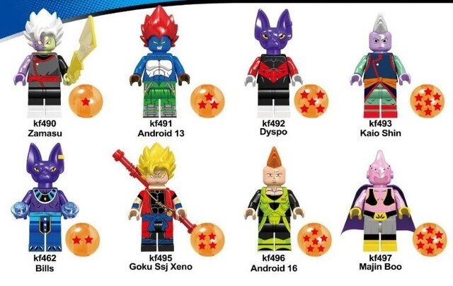 Count:8pcs-3:32pcs Dragon Ball Z Action Figure Super Goku Building Blocks For Lego Toy Heroes