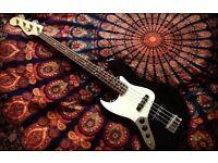 Left Handed Fender Jazz Bass Guitar