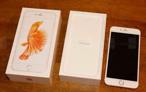 Like new iphone 6s rose gold 64 gb with box
