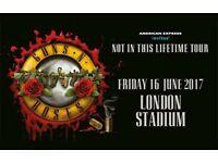1x Guns n Roses ticket. Friday 16th June