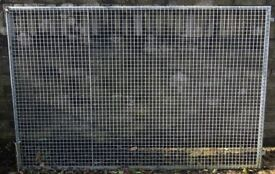 """Professionally Made Galvanised Steel Panels for a Dog Run Made in 1"""" box section square steel mesh"""