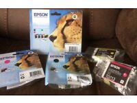 "Epson T0715 (Cheetah) Printer Inks for sale (Half RRP!)- ""Genuine"" brand new inks"