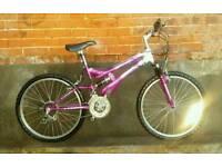 Ladies dual suspension bike in great condition