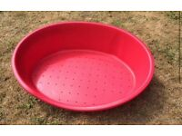 Large red dog bed