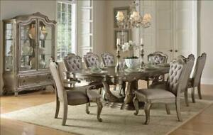 SILVER FINISH DINETTE SET BRAMPTON (ND 1090)