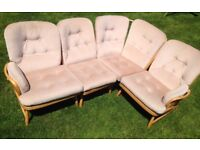 Vintage Ercol Bergere Jubilee Corner Sofa - 1960s/Mid Century