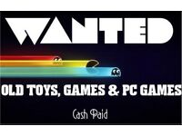 Turn Back Time: WANTED - Old Toys & Games
