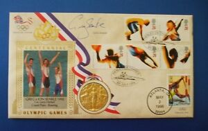 BENHAM-1996-CENTENNIAL-OLYMPIC-GAMES-COVER-SIGNED-BY-GREG-SEARLE