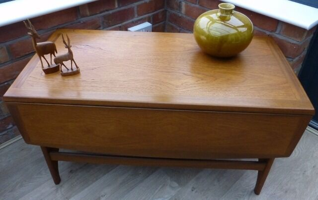 Vintage / Retro Stateroom Stonehill G Plan Style Drop Leaf Coffee Table