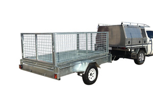 8x5 Single Axle 1500kg  Galvanised Box Trailer with 800mm Cage & 300mm Sides $43p/w Garbutt Townsville City Preview