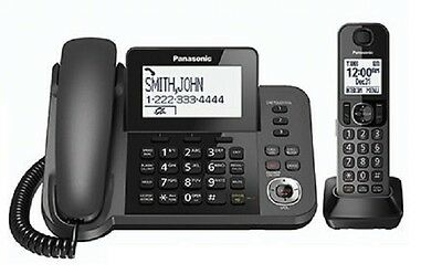 Panasonic KX-TGF350N Metallic Gray DECT 6.0 Plus Corded/Cordless Phone System