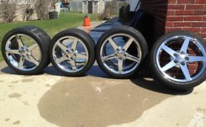 Corvette C6 Chrome Rims & Tires (OEM)