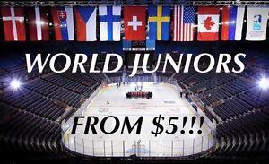 IIHF WORLD JUNIOR HOCKEY TICKETS FROM $5!!! Kitchener / Waterloo Kitchener Area image 1