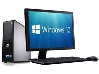 Dell Desktop PC - (Windows 10) Very Fast - 19 inch Monitor - Dual Core – 2 GB RAM - 160GB HDD