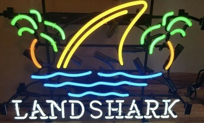 "New Landshark Lager Beer Neon Light Sign 20""x16"""