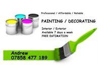 Painter Decorator / Home Improvement / Interior & Exterior Painting / Painting & Decorating /