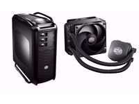 Coolermaster cosmos custom pc case with 200GB HDD + hydro fan cooler + 9 fans + LED lights + more