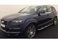 Blue AUDI Q7 3.0 TDI Diesel QUATTRO S LINE FROM £88 PER WEEK!