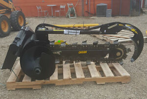"New Digga  48"" skid steer / bobcat trencher attachment"