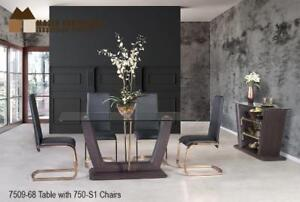Metal and Glass Modern Dining Set (MA264)
