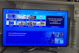 """LIKE NEW SAMSUNG 3D SMART TV 48"""" + with Ikea tv cabinet."""