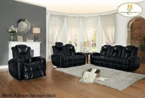 Black Power Recliner Sofa Set with Headrest MA10 8444BLK-1PW (BD-1362)