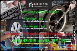 MOBILE Tire Services Change / Swap / Balance / Repair.