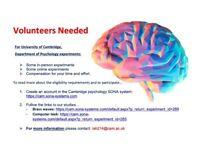 Psychology Experiment Volunteers