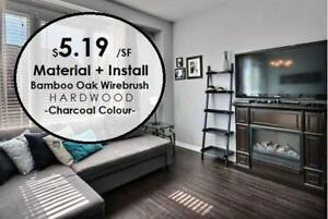 $5.19 Bamboo Hardwood Click Engineered Material and INSTALLATION! Available in 2 COLOURS