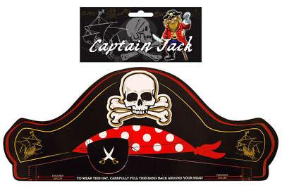 12 Piraten Papier Hüte - Pinata Spielzeug Beute / Partybeutel Totenkopf Schwarz