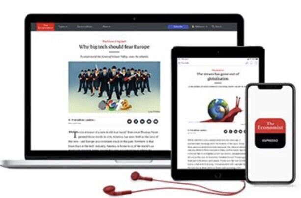 The Economist Digital Subscription 1-year iOS/Android/PC - Anywhere