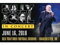 *BLOCK A2* BILLY JOEL TICKETS MANCHESTER 2018