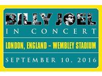 "BILLY JOEL WEMBLEY STADIUM ""SUPERB SEATS"" 10/09/2016 ONLY UK SHOW 2016"