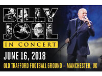 2 BILLY JOEL TICKETS OLD TRAFFORD SUPERB SEATS ONLY UK SHOW IN 2018