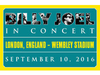 "BILLY JOEL WEMBLEY STADIUM ""SUPERB SEATS BLOCK 124"" ONLY UK SHOW 2016"
