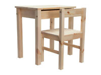 BRAND NEW SOLID PINE KIDS DESK AND CHAIR