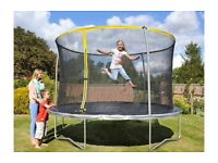10ft trampoline with safety enclosure