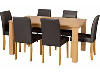 LOVELY CHEAP SWANLEY OAK DINING TABLE WITH 6 CHAIRS - PERFECT CONDITION