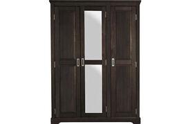 Mendoza 3 Door Mirrored Wardrobe -Oak Stain
