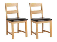 Pair of Hadlow Chairs Solid wood