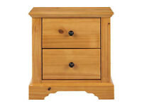 BRAND NEW PINE BEDSIDE CHEST