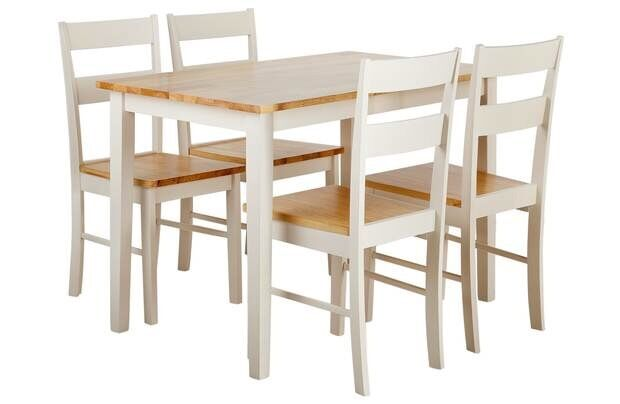 Collection Chicago Dining Table And 4 Chairs Two Tone