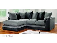 25% Off Everything. Ends Today Jamba Dual-Padded Extra Thick Jumbo Fabric Corner Sofa- RRP£599!!