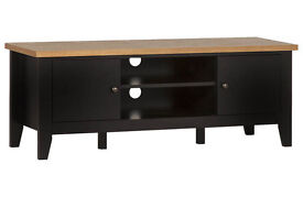 Hygena Luna 2 Door Low TV Unit - Black and Oak